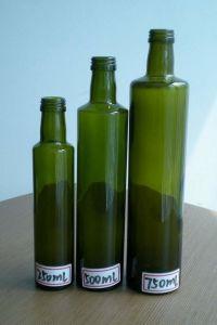 Frasco de vidro tipo Dorica/garrafa de vidro Marasca Azeite