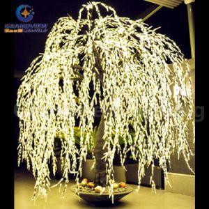 Árbol de sauce iluminado LED de tronco de aspecto real de la puerta interior de las luces de árbol de navidad artificial