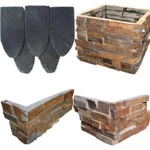 ホーム安く自然な石塀のスレートの床タイル
