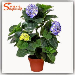 Venda por grosso de flores Hortência Artificial Barata Bonsai