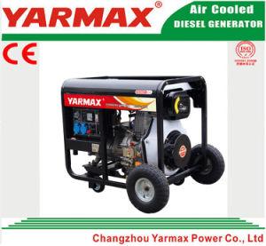 Yarmax 공기에 의하여 냉각되는 단 하나 실린더 디젤 엔진 열린 구조 디젤 엔진 발전기 세트 Genset Ym3500ea
