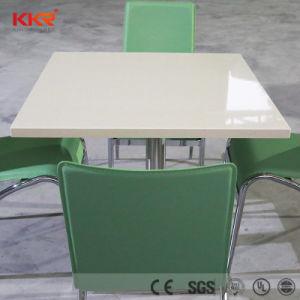 4 Лицо акриловый твердой поверхности обеденный стол стулья для ресторана