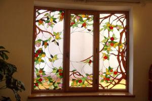 Chambre à coucher Vitrail panneau décoratif
