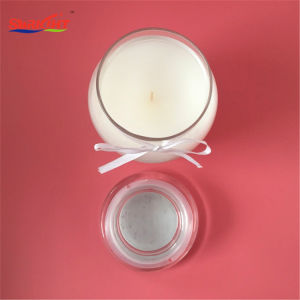 Transparente fosco bonito copo de vidro de fita autocolante com velas