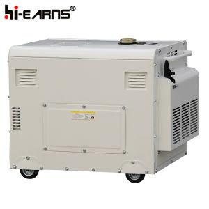 Air-Cooled tipo silenciosa de un cilindro de Generador Diesel (DG7500SE).