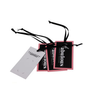 Papel Kraft impresos personalizados colgar la ropa de etiqueta