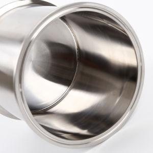 Protezione sanitaria della bobina del morsetto del trifoglio dell'acciaio inossidabile di SS304/316L tri con la parte inferiore saldata