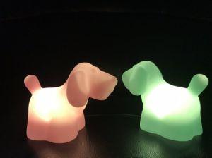 Notte bella del cane LED del primo Lanciare-Vinile globale verde chiaro