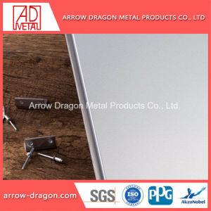 Painéis de alumínio alveolado de cor de prata para a decoração de paredes