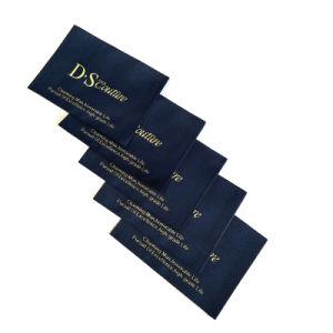 Recientemente la marca de moda de diseño más suave tejido perimetral etiqueta tejida