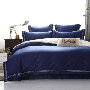 Todas as fibras longas de cor sólida de algodão descaroçado quatro Conjunto de peça de algodão puro nórdicos simples conjunto de roupa de cama de hotel