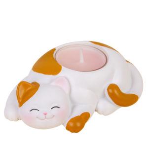 Fun Новинка полимера Cat-образный держатель в форме свечи Antler Tealight