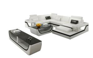 Muebles de salón moderno sofá esquina multifunción sencillo diseño cómodo sofá de cuero