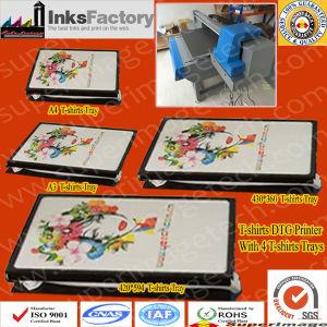 나이지리아 디스트리뷰터는 원했다: 4개의 t-셔츠 쟁반을%s 가진 DTG t-셔츠 인쇄 기계