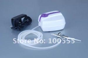 Envio gratuito! Perfazer o sistema Airbrush portátil com Mini-Compressor de Ar e 0.4/0.5mm 2cc Pincel Kit 135