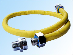 SS-flexibles Gas-Verbindungsstück mit PVC-Abdeckung
