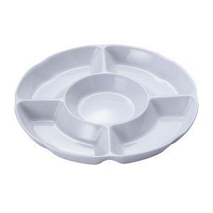 100%compartiment de la vaisselle en mélamine- cercle de la plaque (WT821)
