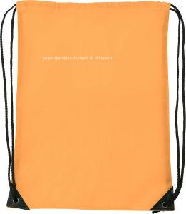 OEMによってカスタマイズされるロゴプリントポリエステルナイロン体操のスポーツの青いドローストリングのバックパック袋の製造者
