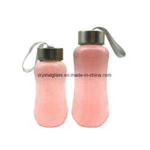 Breiter Mund-Frost-Glaswasser-Flasche mit Plastiküberwurfmutter