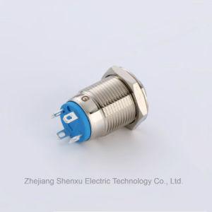 12mm 1n1nc momentáneo Interruptor Pulsador de metal