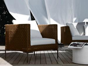 Resistente a raios UV e Estrutura de alumínio de vime sofá individual