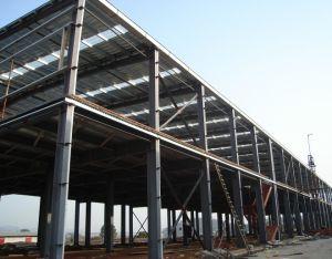Edificio de ingeniería prefabricados cortina de vidrio y bastidor de la estructura de acero