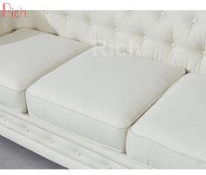 Migliore sofà di cuoio di vendita di Chesterfield del tessuto della mobilia del salone