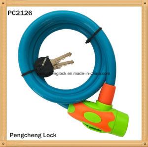 La tecla de bloqueo de cable básico candado de bicicleta candado de bicicleta portátil seguro