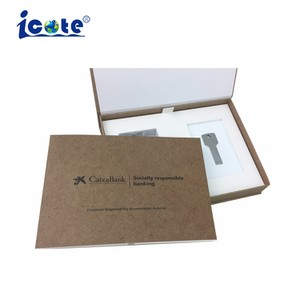 Folheto de vídeo personalizada com impressão de embalagens para presentes