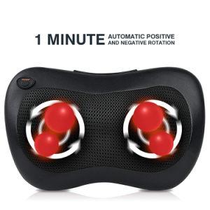 Coche eléctrico de Shiatsu masaje de infrarrojos en el cuello la almohada con calor