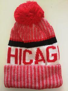 メンズチーム米国シカゴの冬の暖かい編む帽子のウールのだぶだぶのだらしない帽子の帽子の頭骨の帽子