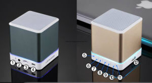 La música mini auricular Bluetooth con Radio, Altavoz Bluetooth portátil con luz LED, altavoces inalámbricos Bluetooth® 2018