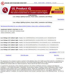 Marcação UL 12V2835 Epistar SMD Branco frio à prova de luz de LED IP65