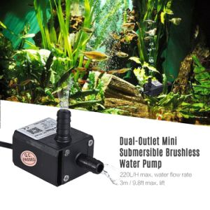 Le tassergal Leakageproof Ultra-Quiet DC 220L/H Submersible Brushless amphibie pour réservoir de la pompe de circulation du poisson