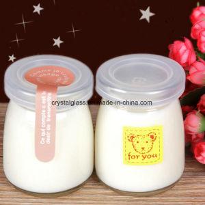 Minijoghurt-Glasflasche, Glasglas mit freier Kappe