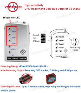 Alta sensibilidad rastreador de GPS y GSM Bug Detectorvs-066sv detectar rastreador de GPS, GSM Bug y GSM Phonegsm850/900/1800/1900 MHz