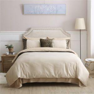 Textil hogar decoración Sequin Mango de seda bordado conjunto de ropa de cama de algodón de lujo