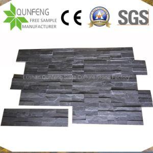 15X60cm 중국 자연적인 문화 돌 검정 슬레이트 벽 클래딩 위원회
