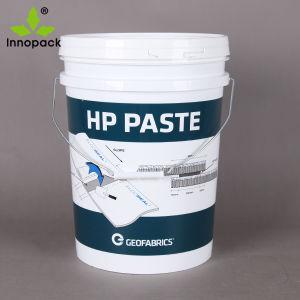 Imprimir Australia Stype de grado alimentario balde cucharas de plástico con tapa