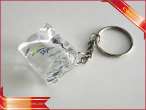 Keychain acrilico Promotion Gift Clear Keychain con Metal Ring