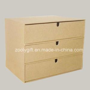 3 Drawersの環境に優しいNaturalブラウンクラフトPaper Box