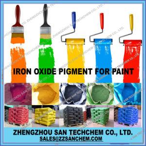 El óxido de hierro de cemento en rojo amarillo negro verde azul