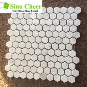 Los materiales de construcción Hexagonal colores mezclados de Piedra Natural mosaico de mármol de baldosa.