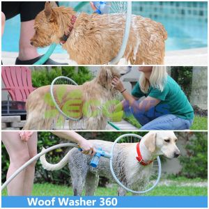 Rondella pulita del cane dell'abbaio sordo acquazzone del bagno da 360 gradi