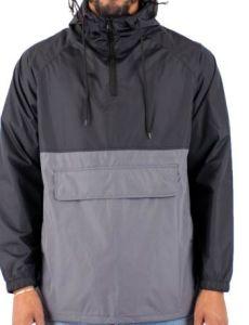 A03 Pakable Wind & Water-Resistant capa de lluvia Pullover Campera anorak al aire libre
