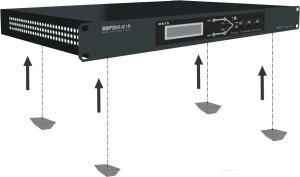 Fase única Msts-220Vac 16AMP 3.2KW 2 pole position do Interruptor de Transferência Estática