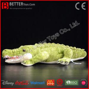 Giocattolo molle del coccodrillo africano della peluche dell'animale farcito del coccodrillo realistico del Nilo