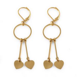 최신 형성된 보석 형식 금에 의하여 도금된 심혼은 귀걸이를 매단다