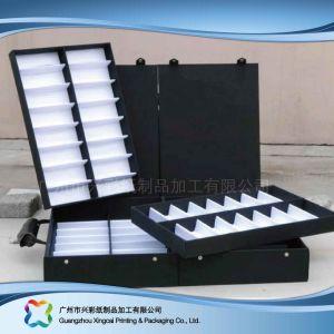 De madera y papel de lujo Mostrar caja de embalaje para ver las Joyas de regalo (XC-hbj-009)