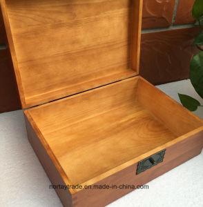 Amende Boîte en bois avec verrouillage boîte de rangement en bois pour les certificats Médaille et Diplôme